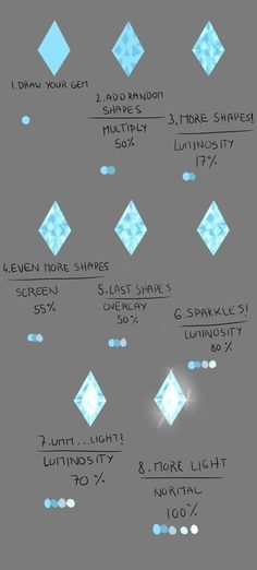 How do I draw: Gems by Lairai on deviantART