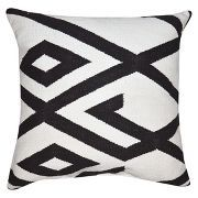 Black and White Oversized Throw Pillow with Tassels - Threshold™