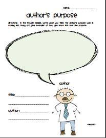 Worksheets Authors Purpose Worksheet 25 best ideas about authors purpose worksheet on pinterest freebie