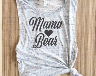 mamá pájaro mamá pájaro camisa mama oso muscular camiseta