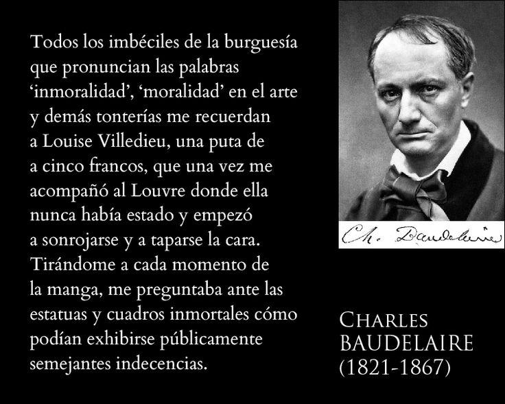 Baudelaire sobre los espectadores persignados.