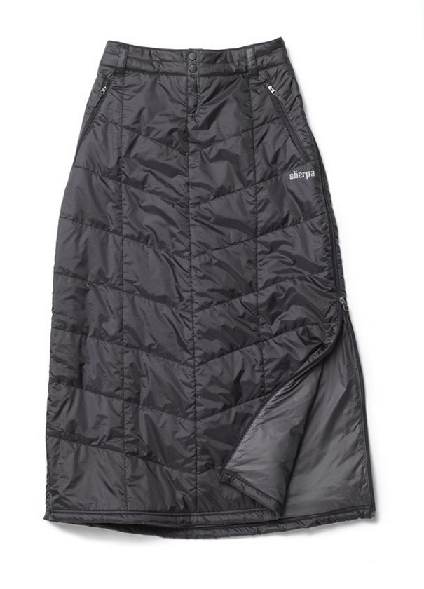 There are plenty of insulated jackets and pants to choose from out there. Why not skirts? The Thongmu Skirt is long, and quilted, and insulated. The fabric is water-resistant and windproof; and the PrimaLoft® One insulation keeps you cozy even if it gets wet. The whole thing compresses down into something you can stow in your purse. When the temperature drops, slide it over whatever you're wearing.