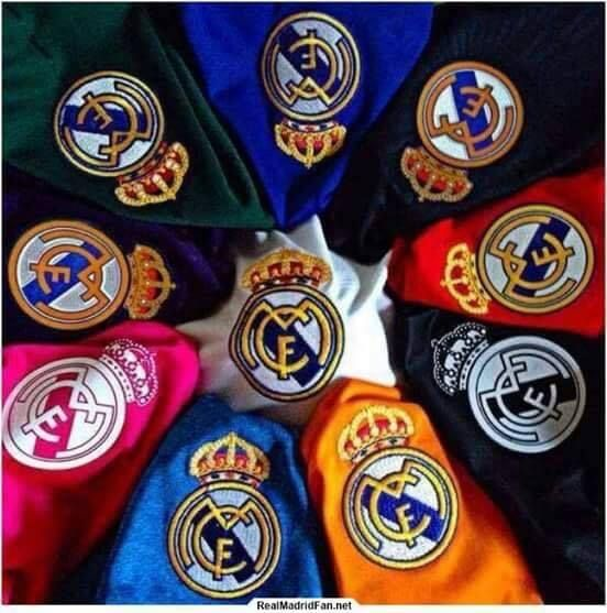 Real Madrid colour shirts