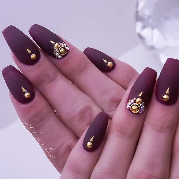 cool matte nail design copy