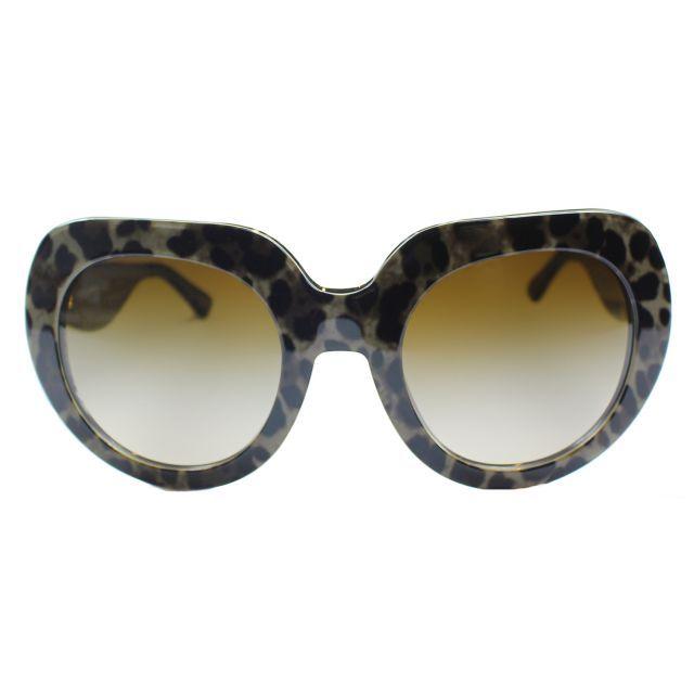 fc01b3a9389 Dolce   Gabbana DG 4191P 199513 Leopard Fashion Sunglasses Brown Gradient  Lens - Gaffos Inc