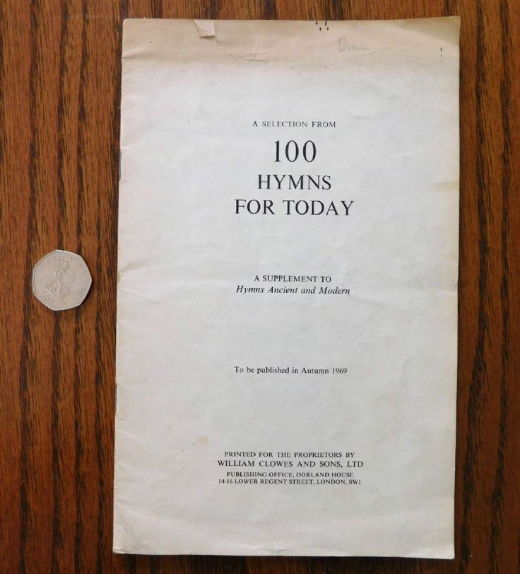 Selection from 100 Hymns for Today to be published in Autumn 1969 A Supplement to Hymns Ancient and Modern Sheet music Date of Printing 1960s