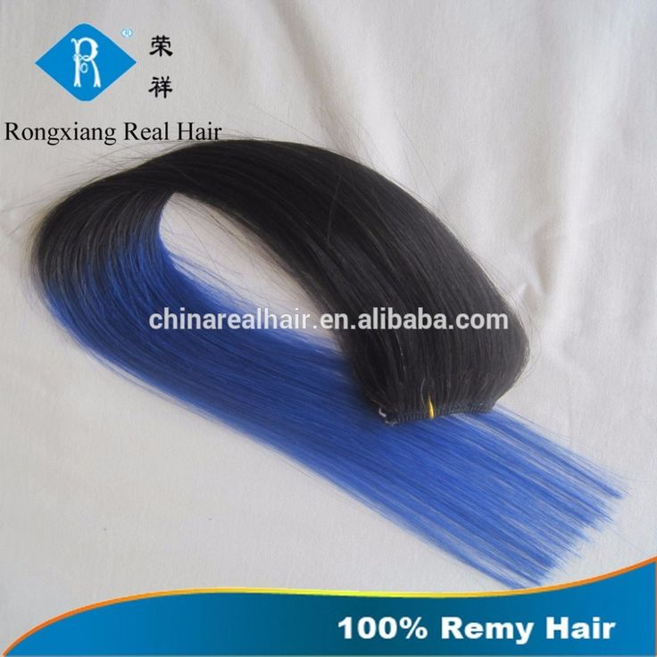No shedding natural human hair two tone clip on remy hair extensions