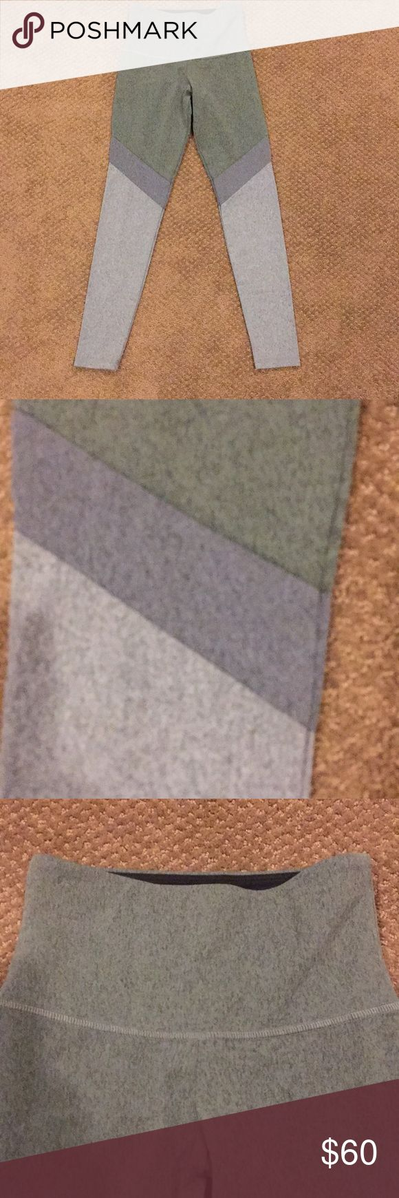 """Strut This Heather Green & Grey Monroe Leggings These are the softest leggings made of Heather green and grey and dark heather grey. 87% polyamide and 13% elastine. One size fits from size 0-6. Trust me they do fit these sizes. Inseam 24"""". Strut This Pants Leggings"""