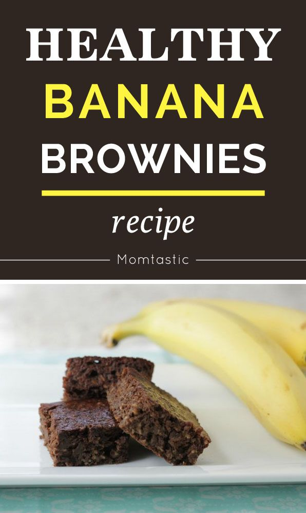 Healthy brownies recipe -- made with bananas!