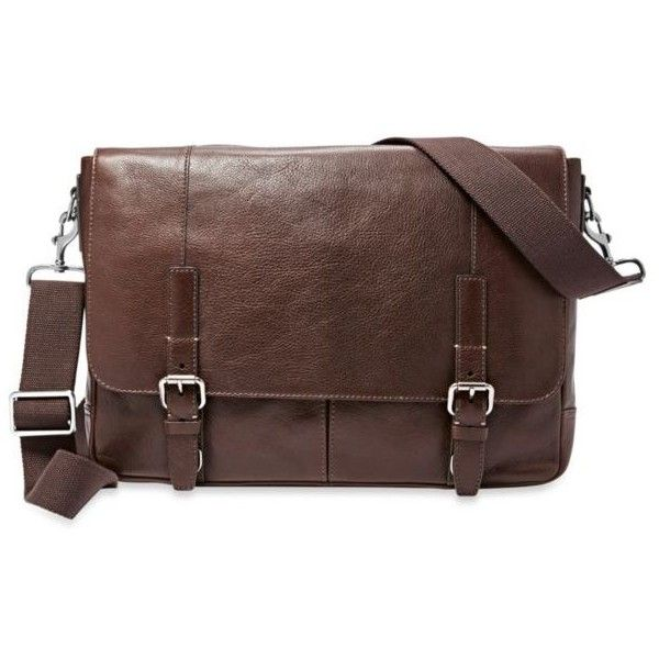 Fossil Dark Brown Graham Leather Messenger Bag (84.530 HUF) ❤ liked on Polyvore featuring men's fashion, men's bags, men's messenger bags, dark brown, mens laptop messenger bags, mens leather messenger bag, mens leather laptop messenger bag and fossil mens messenger bags