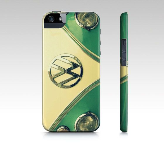 Aqua Sprinkles  Hard Cell Phone Case  Retro Classic VW by RDelean, $35.00