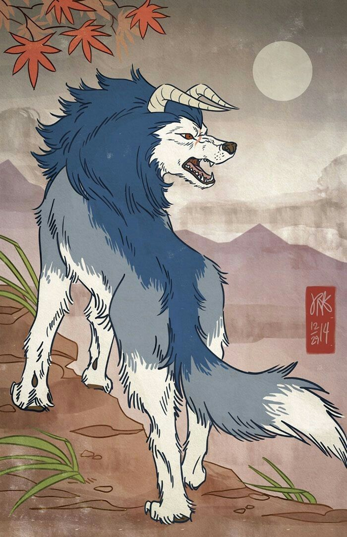 The horned wolf hound turned and showed his true inner beast