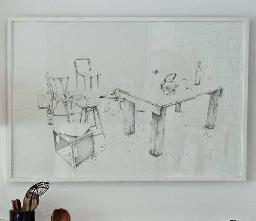 Marcos para dibujos y tintas de Catalina Scoppa. Expuestos en Estilo Pilar.  #Arte #Atril23 #EstiloPilar #Decoración #Tintas #Dibujo #CatalinaScoppa