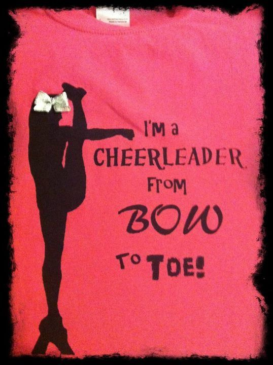 Hot Pink Bow to Toe Cheerleader Tshirt (Youth) on Etsy, $15.00