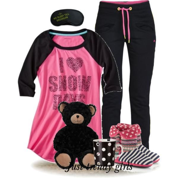 funny winter pajamas for girls