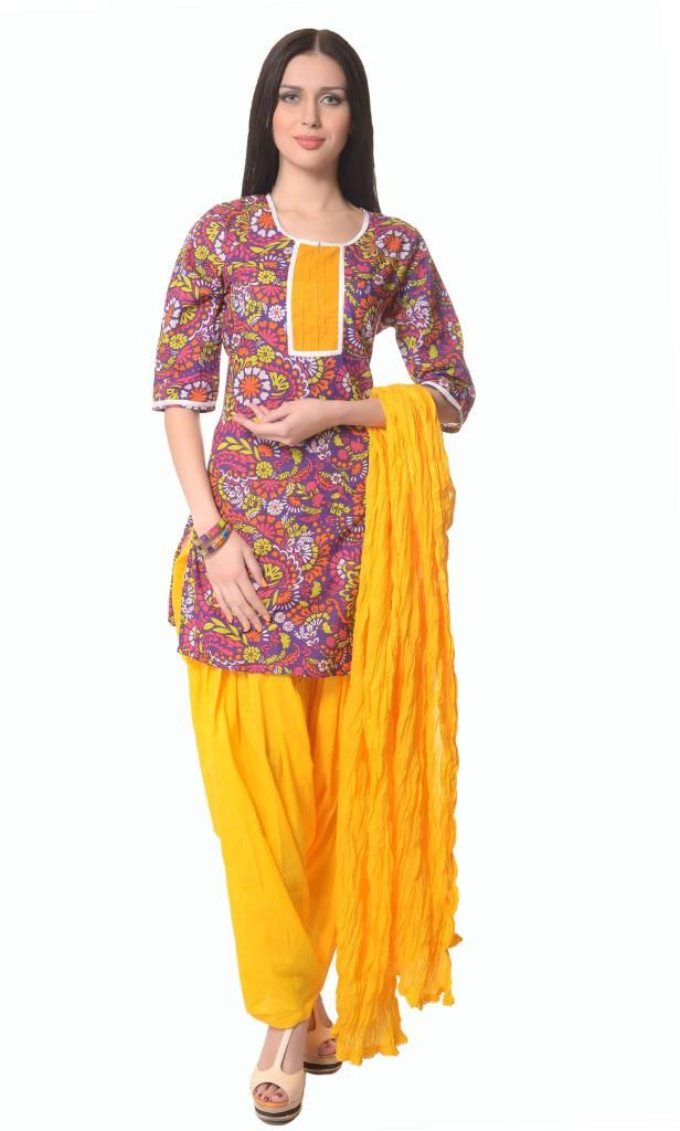 Multicolor cotton readymade salwar suit