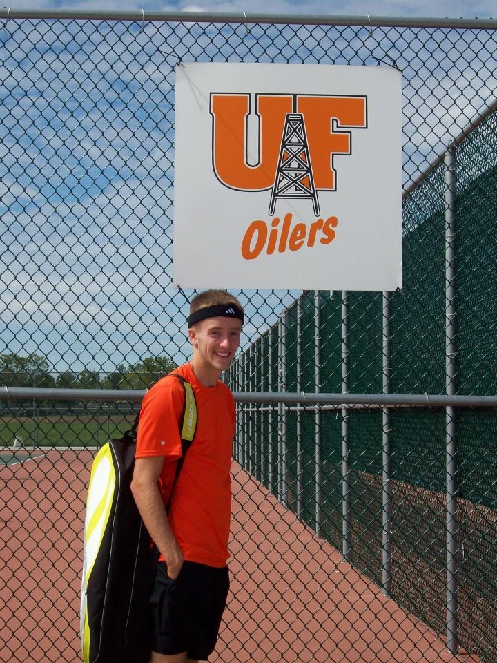 My nephew, my bubby Mitch is an official player on Findlay University's tennis team   =)