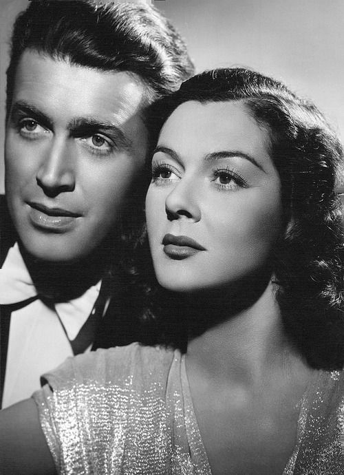 """Jimmy Stewart and Rosalind Russell - promo for """"No Time For Comedy"""" (1940)."""