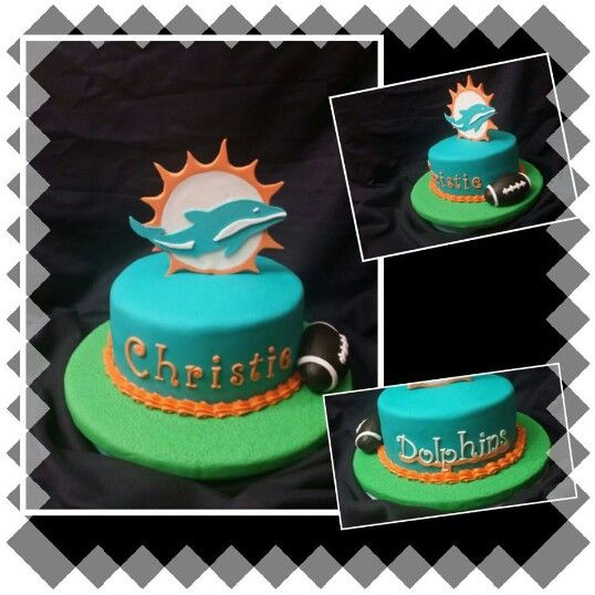 55 best miami dolphins cakes images on pinterest