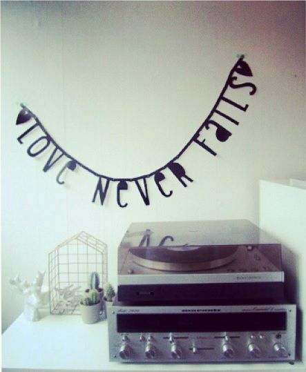 #Wordbanner #tip: #Love never fails - Buy it at www.vanmariel.nl - € 11,95