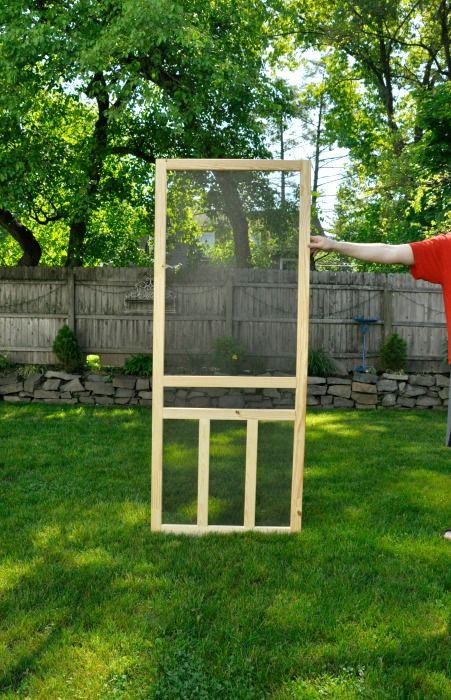 wooden screen door from lowe's