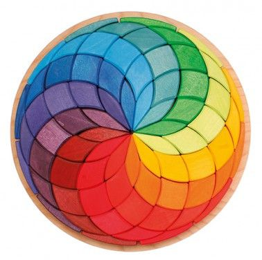 Grimm's large Mandala Circle Coloured Spiral – The Creative Toy Shop