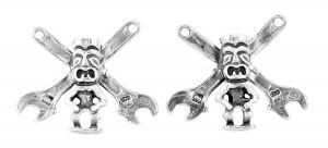 Tiki Shifter cufflinks in sterling silver - $245
