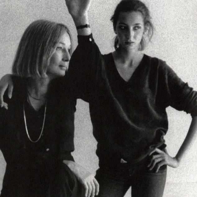Painter Jane Wilson and daughter late 70s