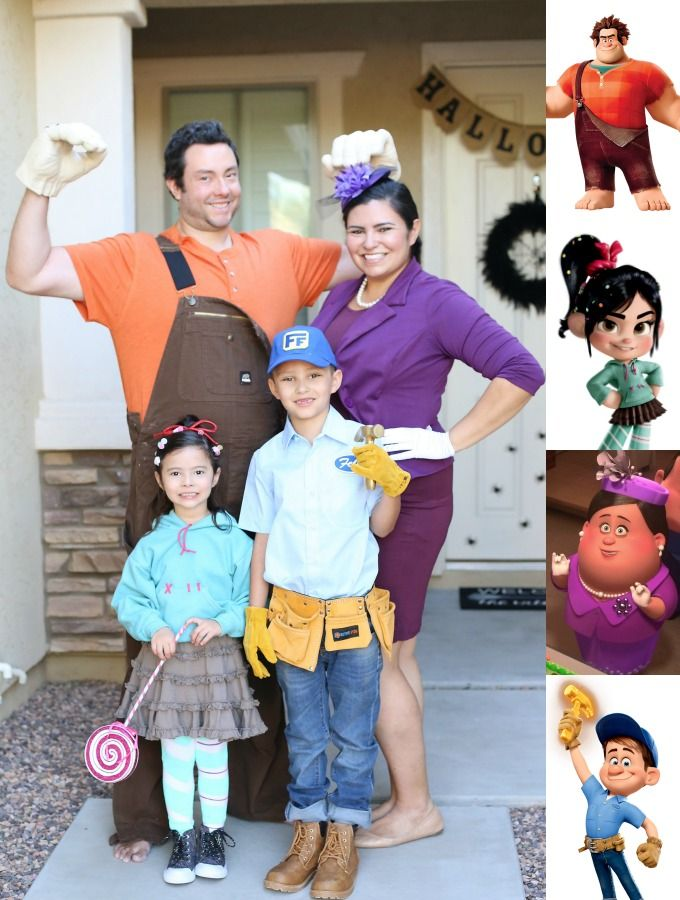Family Of 4 Disney Halloween Costumes.Halloween Diy Wreck It Ralph Family Costume Disney Trip