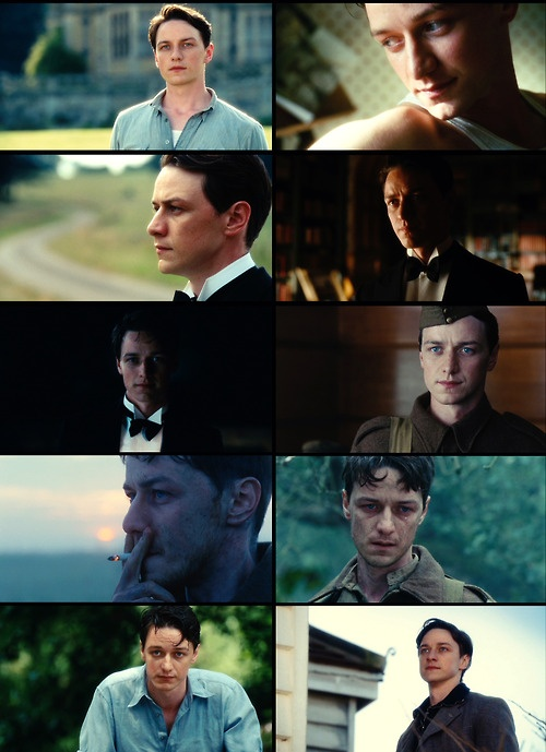 """I loved James McAvoy's character in the movie """"Atonement"""""""