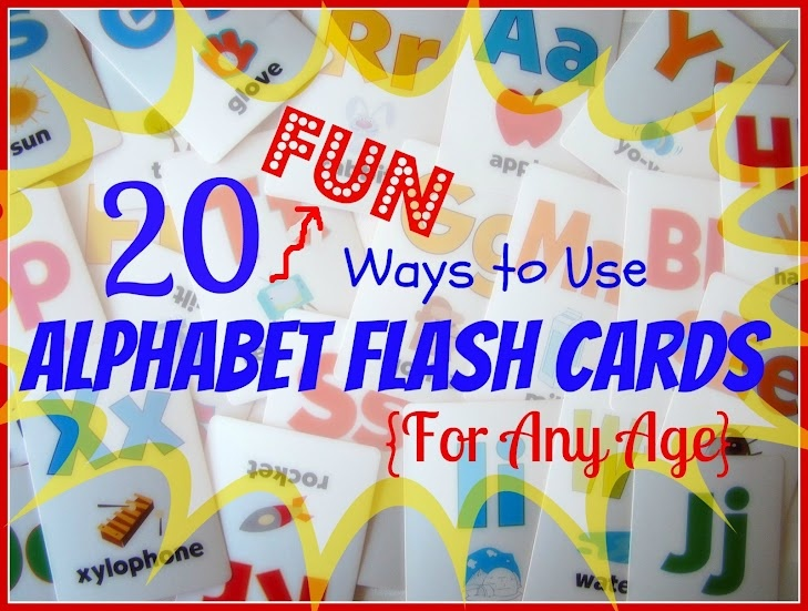Reading Confetti: 20 Fun Ways to Use Alphabet Flash Cards {for any age}Middle Schools, Alphabet Flashcards, Alphabet Flash Cards, Children Activities, Reading Confetti, Fun Reading Flashcards, Alphabet Activities, Schools Kids, 20 Fun