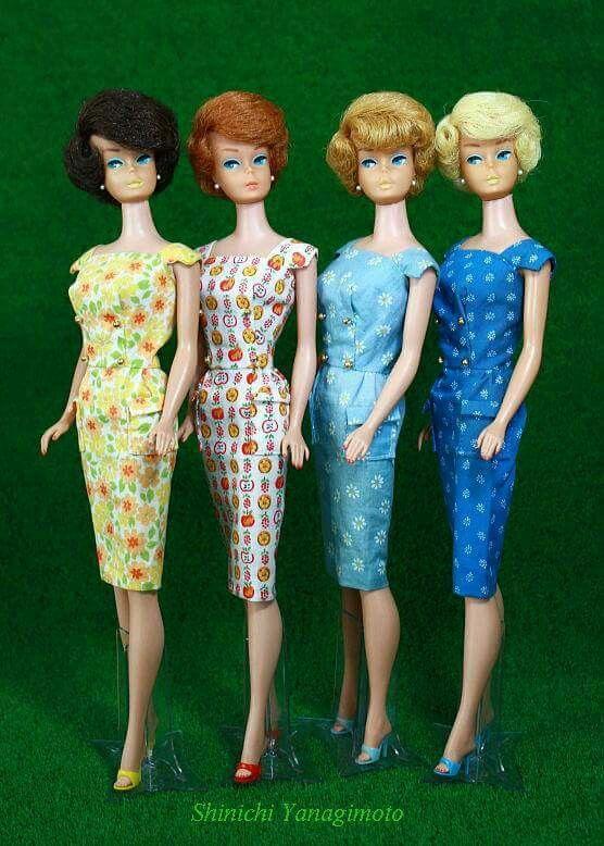 Japanese Edition Sheath modeled by bubblecut Barbies!