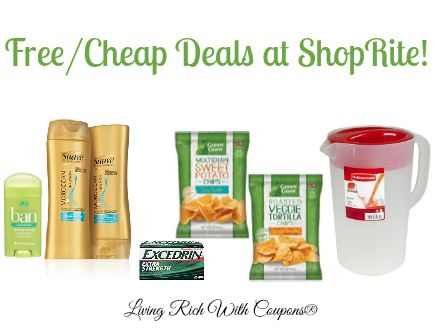 FREE Ban Deodorant, Rubbermaid Pitcher, Excedrin  More at ShopRite!  - http://www.livingrichwithcoupons.com/2014/06/free-ban-deodorant-rubbermaid-pitcher-vlasic-shoprite.html