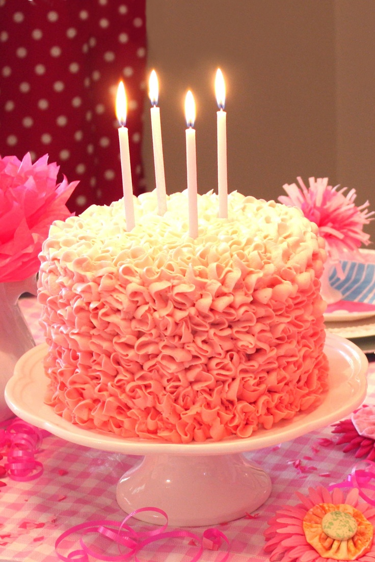 Messy Ruffles Ombre Cake