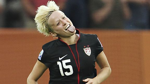 Megan Rapinoe. USA Women's Soccer Team. She is AWESOME!