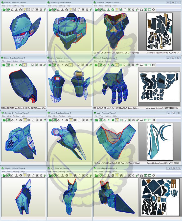 Pharah Raptorian OverWatch Costume Template / Pattern Pepakura 3D Model