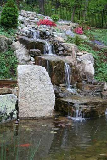 Ручей и каскад, пруд и бассейн в ландшафтном дизайне
