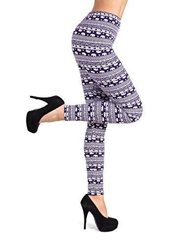2bac1065cc200 Sejora PL-SLE-1714 Printed Leggings Full Length Patterned with Designs - (One  Size, Elephant 2)
