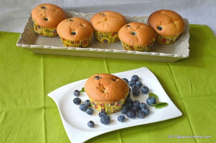 cum se fac muffins cu afine reteta