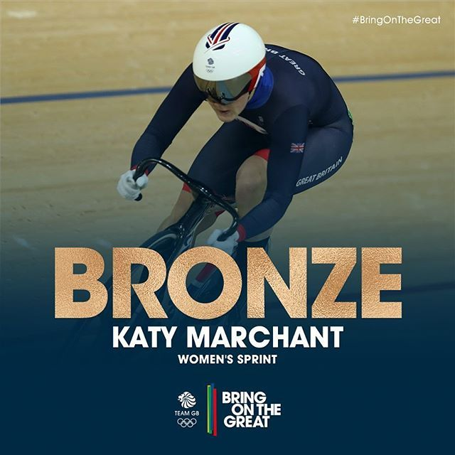 YES!!!! In her first Olympics, Katy Marchant brings home the #Bronze medal…