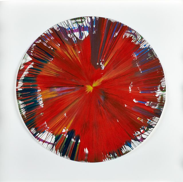 Damien Hirst | Circle Spin Painting Red (2009) | Available for Sale | Artsy