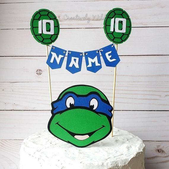 Teenage Mutant Ninja Turtles Birthday Cake Topper Tmnt Cake Ninja Turtle Teenage Mutant Ninja Turtle Cake Ninja Turtle Cake Topper Ninja Turtle Birthday Cake