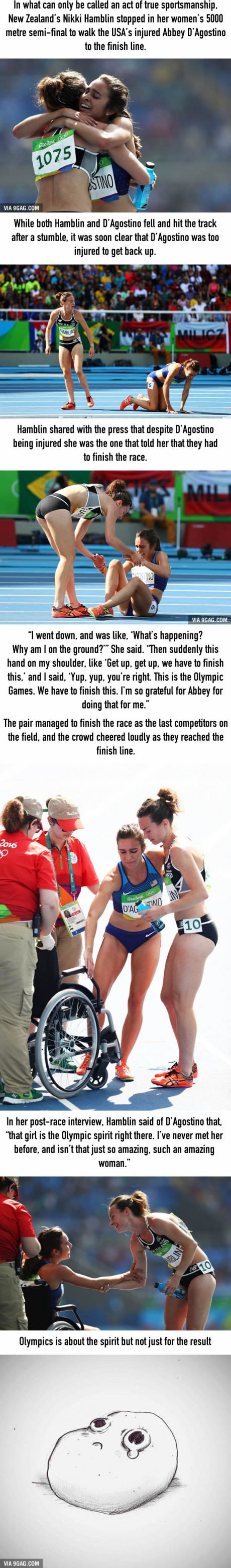 New Zealand's Runner Nikki Hamblin Stopped In Her Olympics Semi-Final To Help Her Injured Competitor Finish