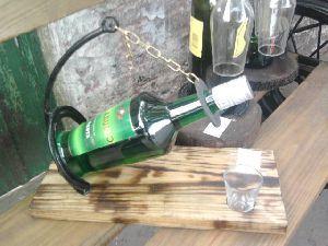 Hierro: Porta botella completo por acef
