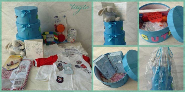 New baby boy born: Τούρτα από κουτιά - http://goo.gl/IbzqGI