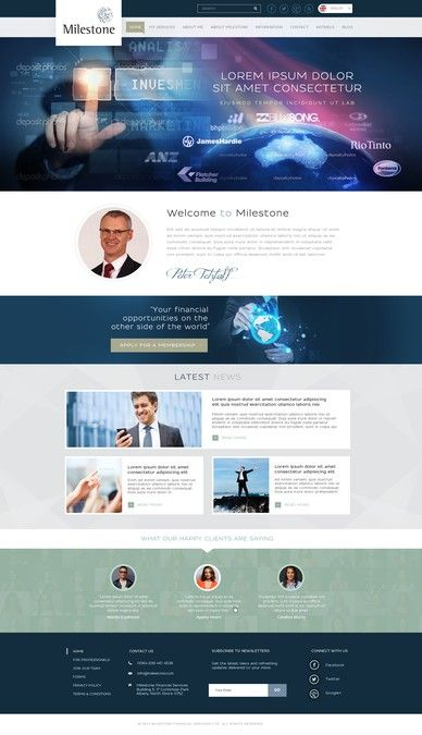Relaunch Peter Tetzlaff / Milestone Financial Services by Mithum