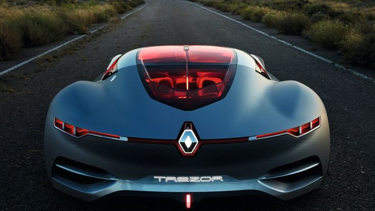 Renault TREZOR Concept - véhicule à la tombée de la nuit - vue arrière