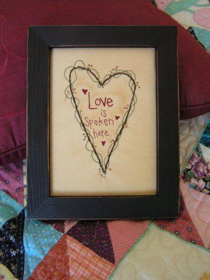 primitive valentine's day decorations | ... , engagement, valentine's day decorating, gift. $15.00, via Etsy