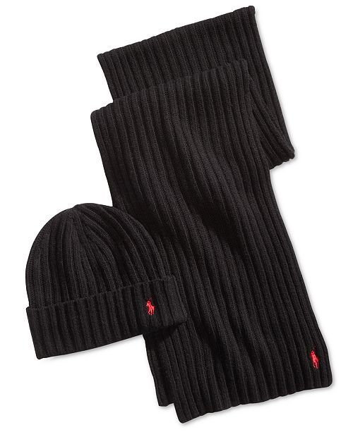 a76f976aa6fd39 Men's Classic Ribbed Hat & Scarf Gift Set in 2019 | Ash | Polo ralph, Polo  ralph lauren, Hats