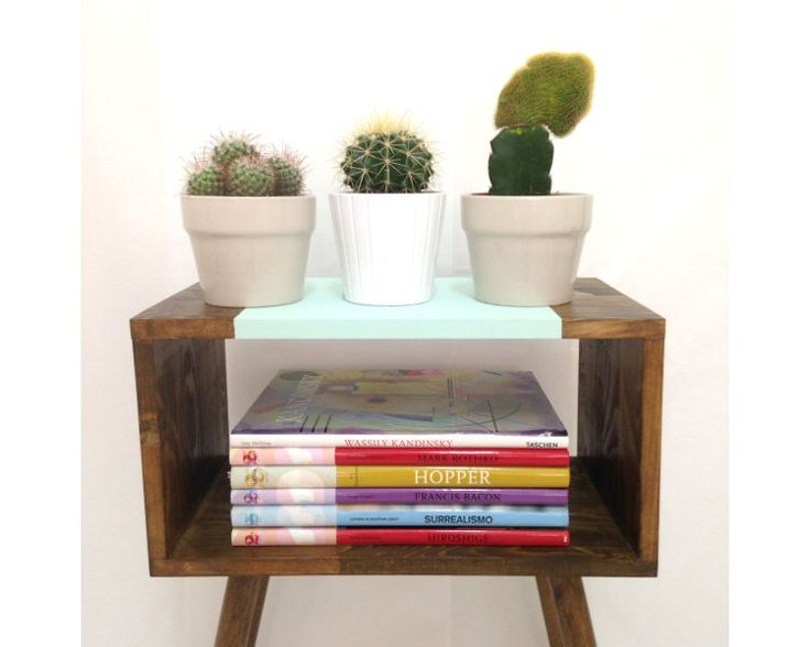 Mid Century Modern Tables, Midcentury Bedside Table, Scandinavian Table, Retro Nightstand, Coffee Table, End Table, Mint Table by VintageHouseCoruna on Etsy https://www.etsy.com/listing/255745591/mid-century-modern-tables-midcentury